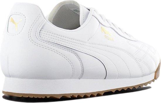 Puma Roma Anniversario 366673-03 - Sneaker Sportschoenen Schoenen Leer Wit  - Maat EU 46 UK 11