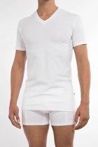 Claesen's Heren 2-pack V-neck t-shirt - White- Maat L