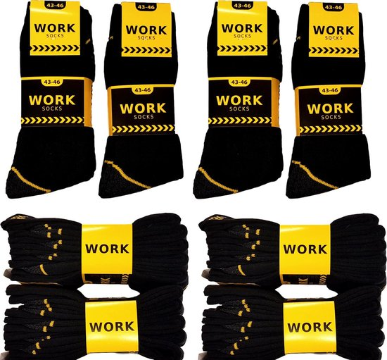 Afbeelding van Work Werksokken - 20 paar - Zwart - Maat 43/46