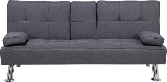 Beliani ROXEN - Slaapbank - grijs - polyester
