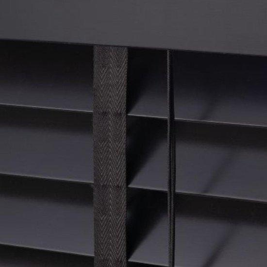 Houten jaloezie 50MM Zwart 200x175- rolgordijn-raamshutter-luxaflex