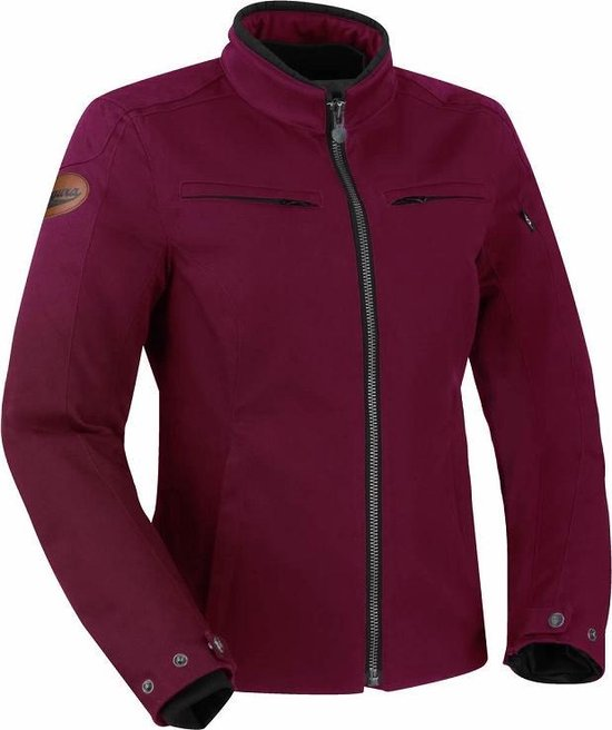 Segura Garrisson Lady Burgundy Motorcycle Jacket T0