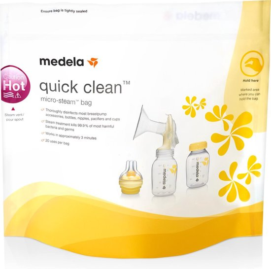 Product: Medela Quickclean Magnetron Sterrilisatiezak, van het merk Medela
