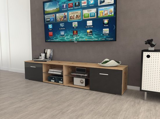 Kast Tv Kast.Bol Com Az Home Tv Kast Tv Meubel Denver Xl 220 Cm