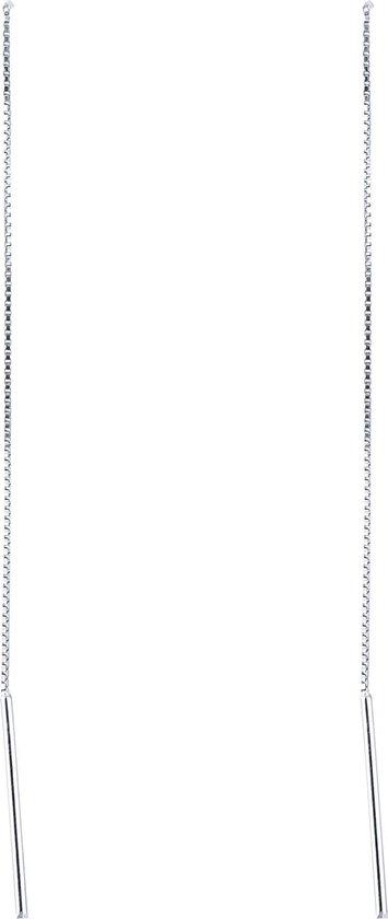 Oorbellen met Staafje aan Ketting - 925 Sterling Zilver - 9,5cm - Musthaves - Dielay