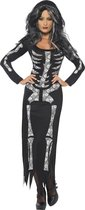 Volwassenenkostuum Halloween Skelet jurk maat M