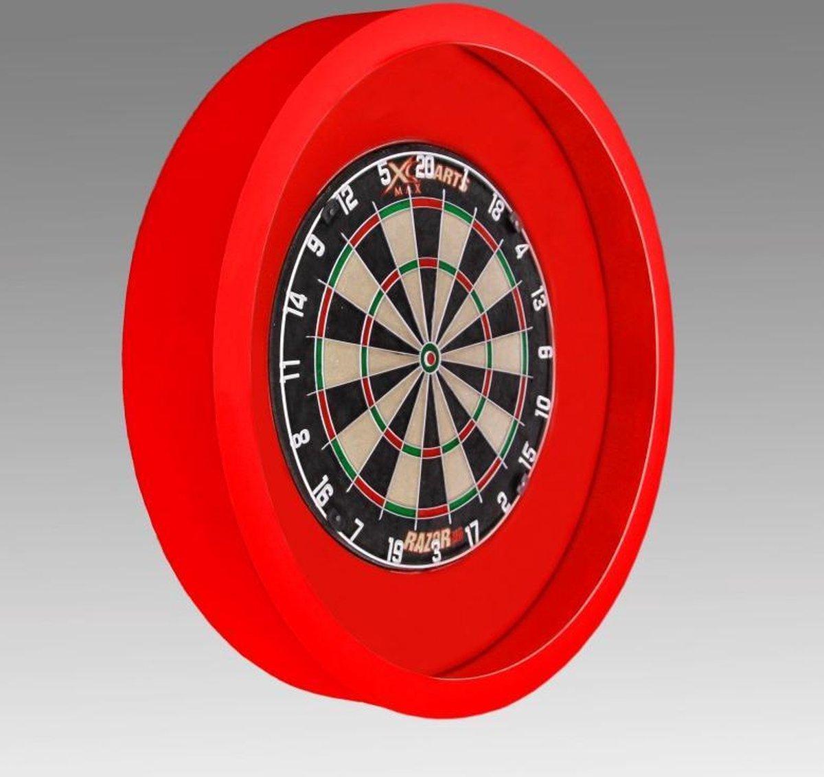 TCB Darts - Dartbord verlichting - voor om dartbord surround - Rood