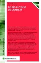 Afbeelding van Bestuursrecht in praktijk - Beleid in tekst en context