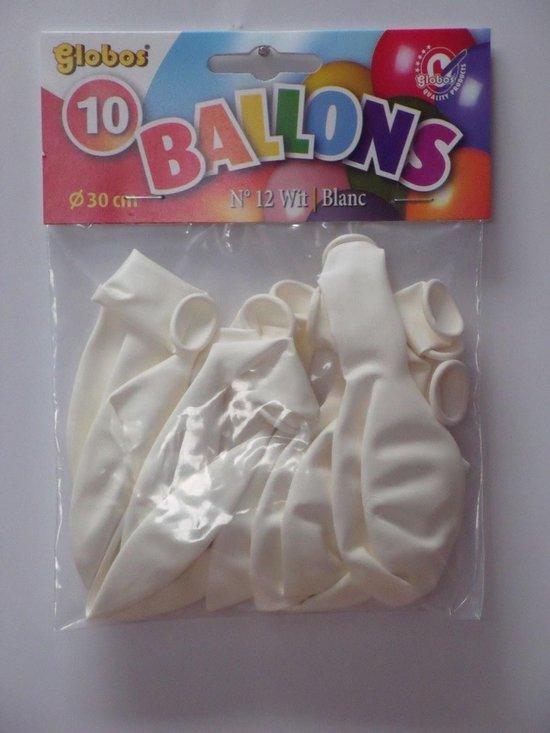 Witte Ballonnen 30cm 10 stuks