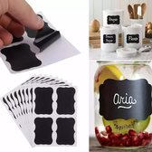 Keuken Etiket Labels - krijtbord sticker - 36 Stuks - 5 x 3,5 cm