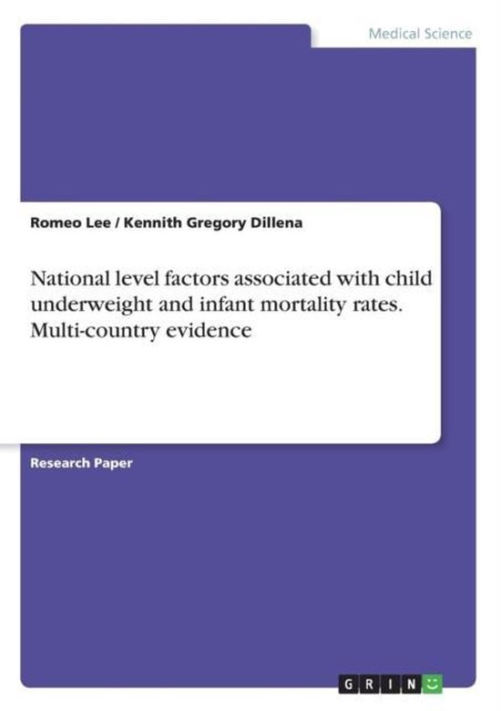 Omslag van National level factors associated with child underweight and infant mortality rates. Multi-country evidence