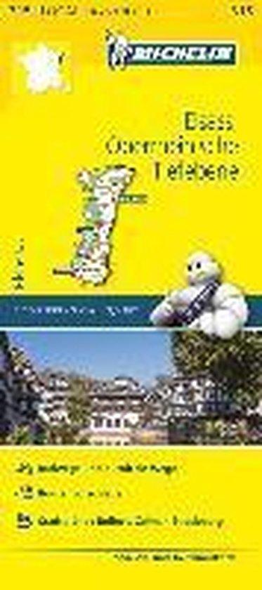 Michelin Localkarte Elsass Oberrheinische Tiefebene 1 : 150 000
