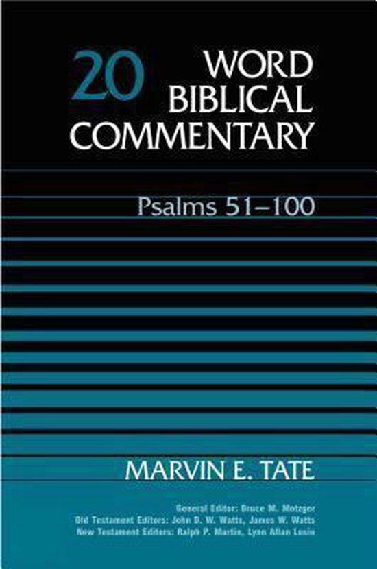 Boek cover Psalms 51-100 van Marvin E. Tate (Hardcover)
