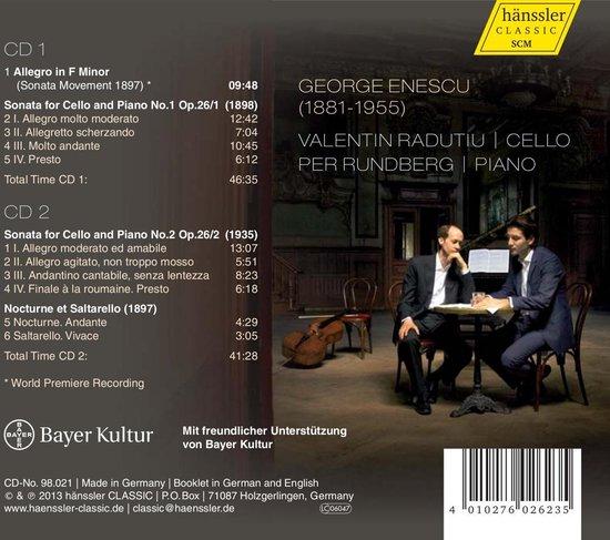 Enescu: Works For Cello & Piano