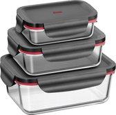 Silit 0022 6327 11 Rechthoekig Lunchbox Zwart, Transparant Voorraaddoos