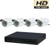 AHD 720P Beveiligingscamera set met 4 Cameras Outdoor Buiten