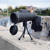 MikaMax Telescoop Smartphone Camera - Opzetlens Smartphone/Tablet - Zwart - Telescoop