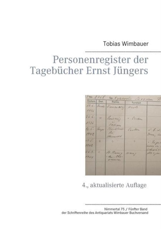 Personenregister der Tagebucher Ernst Jungers