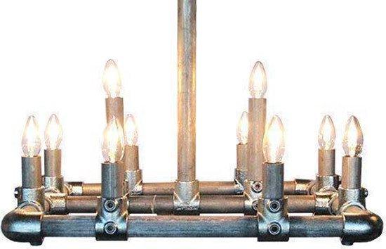 Van Abbevé Steigerbuis - Hanglamp - 10 lichts - Zilver