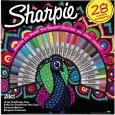 Viltstift Sharpie Permanent Peacock a 28 stuks
