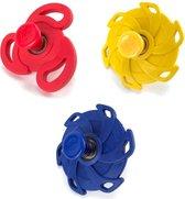 Flip spinner / springing spinner rubber effen gekleurd