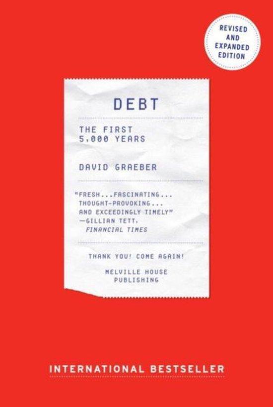 Boek cover Debt : The First 5000 Years van David Graeber (Paperback)