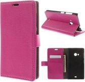 Litchi wallet hoesje Microsoft Lumia 535 roze