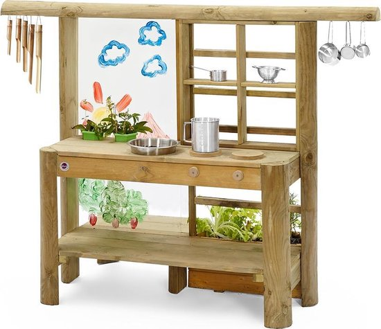 Plum Discovery Mud Pie kitchen - Tuin speelkeuken - Hout - 160 x 70 x 116 cm