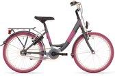 Kinderfiets Bike Fun Blizz meisjes 20 inch remnaaf matt antraciet