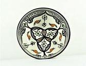 Handgemaakte en handbeschilderde authentieke Marokkaanse kom 16cm