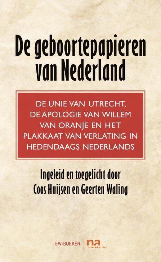 Boek cover Geboortepapieren van Nederland van Coos Huijsen (Hardcover)