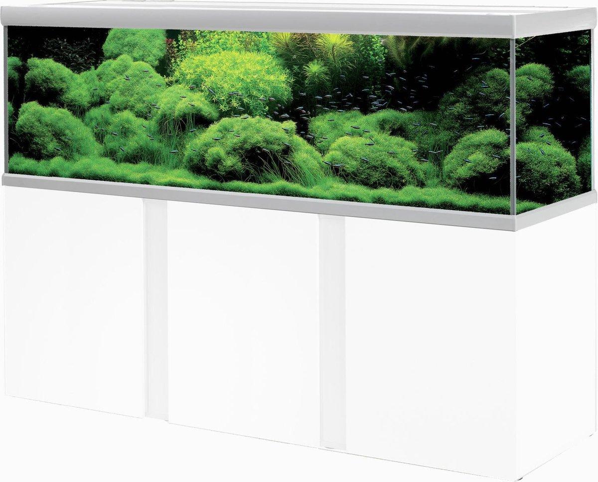Akvastabil Fusion Aquarium 200 - Zilver/Wit - 200 x 60 x 64 cm - Ca. 720 L - Akvastabil