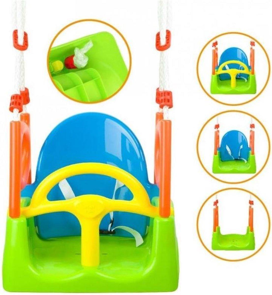 Playfun Schommelzitje 3-in-1 Multicolor 48 X 30 X 160 Cm - Playfun