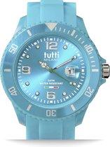 Tutti Milano TM001TU- Horloge - 48 mm - Turquoise - Collectie Pigmento
