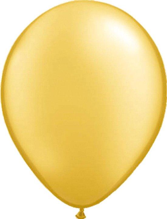 Gouden Metallic Ballonnen 30cm - 100 stuks