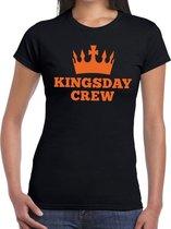 Zwart Kingsday crew t- shirt - Shirt voor dames - Koningsdag kleding 2XL