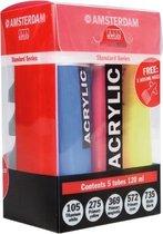 Standard primary set 5 kleuren 120 ml tubes acrylverf met doseertuiten