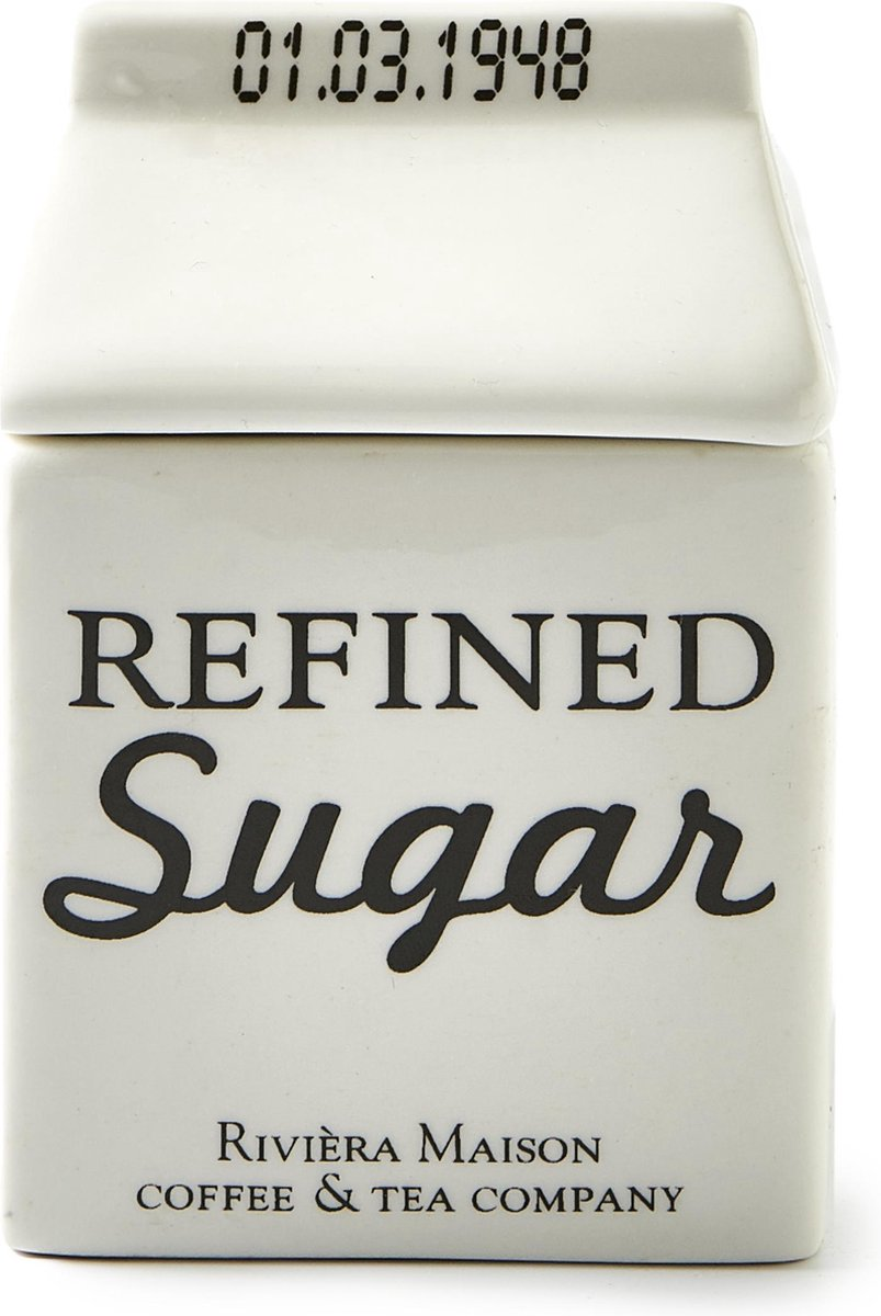 Rivi ra Maison Carton Jar Sugar - Suikerpot - Wit
