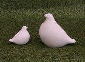 Tuinbeeld duiven set middel/klein - decoratie voor binnen/buiten - beton