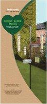 Voederstation Vogel Deluxe - Zwart - 19 x 56 x 197 cm