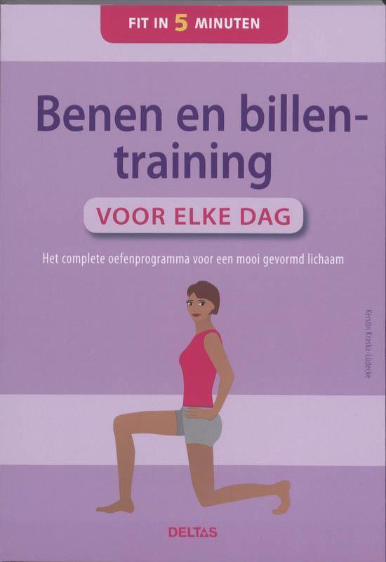 Cover van het boek 'Benen en billentraining voor elke dag Fit in 5 minuten'