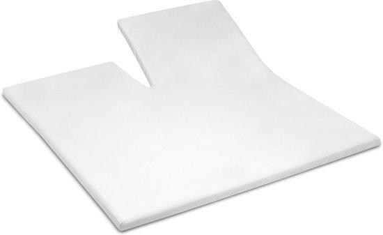 Cinderella - Topper hoeslaken met split (tot 15 cm) -  Katoen - 160x200 cm - White