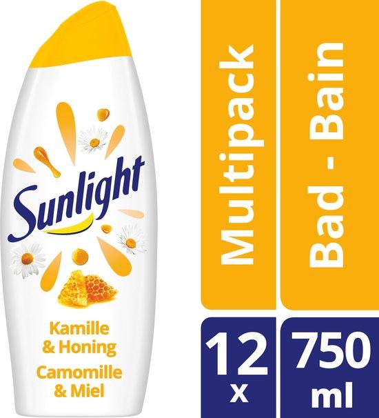 Sunlight pH-Huidneutraal Badschuim Kamille & Honing 12 x 750 ml (8711700683661)