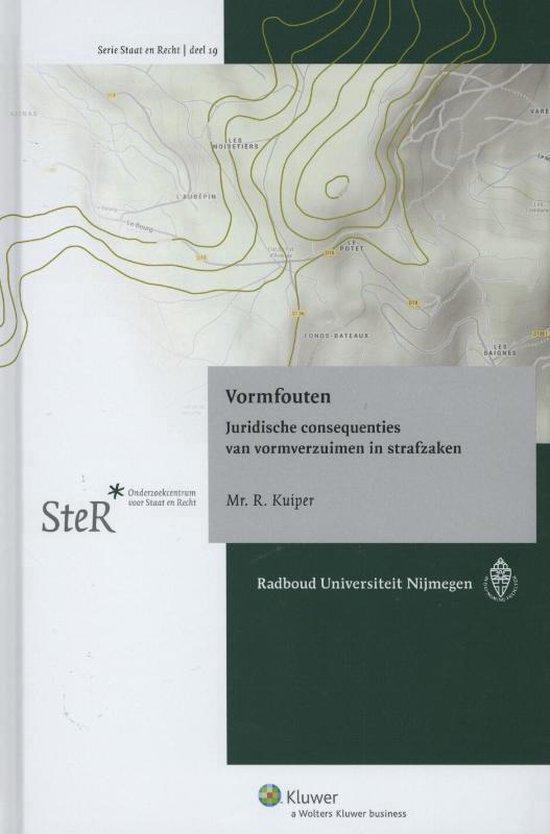 Boek cover Vormfouten van Reindert Kuiper (Hardcover)