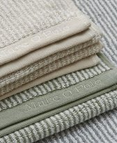 Marc O'Polo Timeless Tone Stripe  Badhanddoek - 70x140 - Green/off white