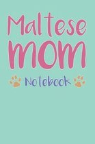 Maltese Mom Composition Notebook of Dog Mom Journal