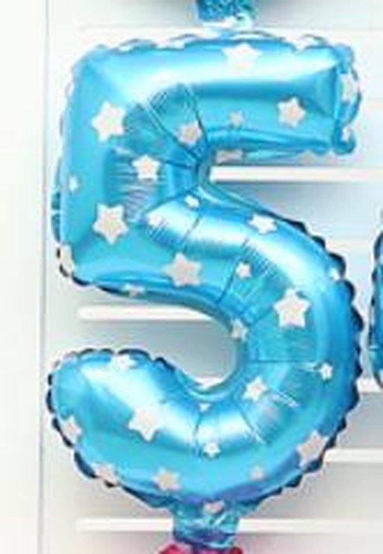 XL Folie Ballon (5) - Helium Ballonnen - Babyshower - Verjaardag - Blauw