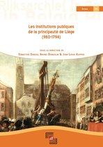 Boek cover Les institutions publiques de la principauté de liège (980-1794) van
