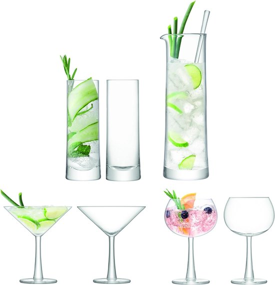 L.S.A. Gin Cocktail Set