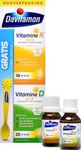 Davitamon Baby Eerste Vitamines – Vitamine D3 olie en Vitamine K Olie - 25ml + 10ml